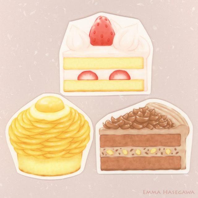 はがせるステッカー★定番ケーキセット