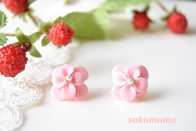 ✿ 春花のピアス (ピンク)   ハン...