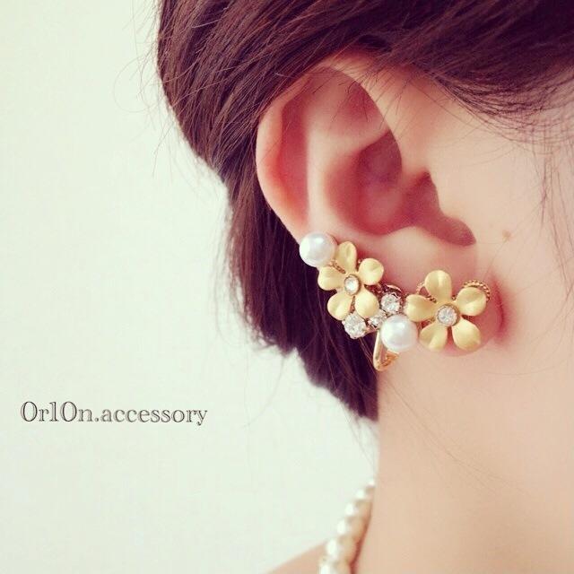 Flower Earring.【blass】