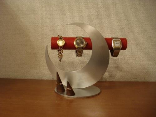 かわいい!!レッド三日月腕時計スタンド
