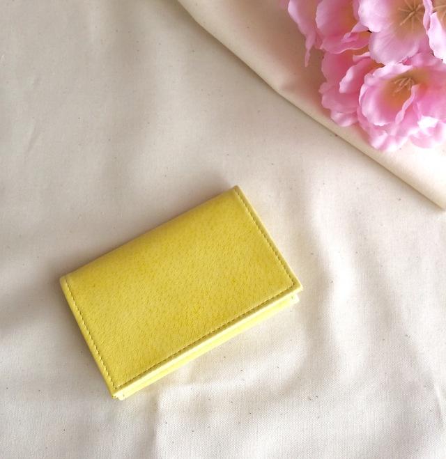 春色淡い黄色の名刺入れ