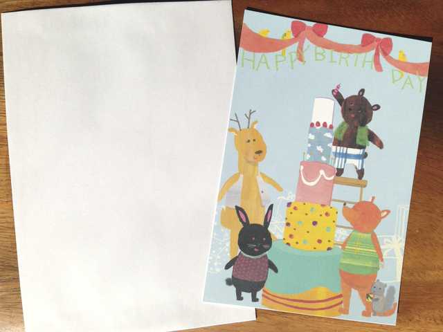 お誕生日カード みんなでお祝い