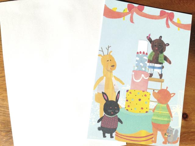 お誕生日カード みんなでお祝い 文字...