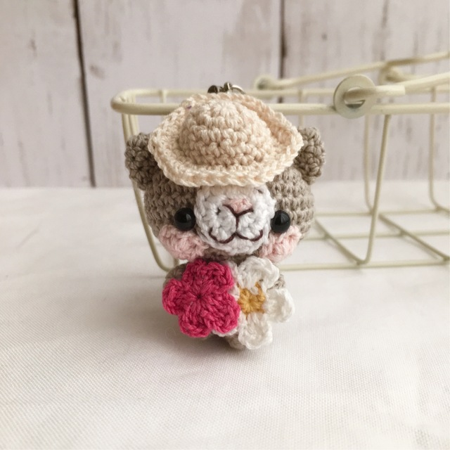 【受注生産】小さなお花・グレー色ネコ...