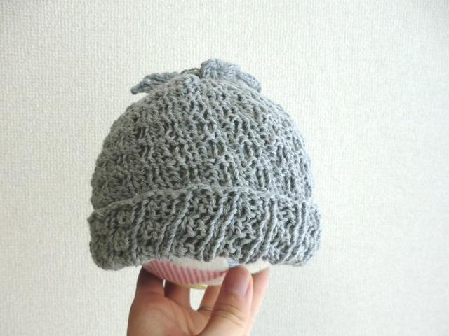 コットンの伸び〜るニット帽子 42〜50cm