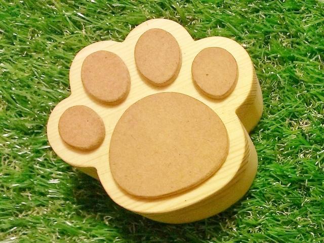 木製☆猫の肉球小箱☆ナチュラル