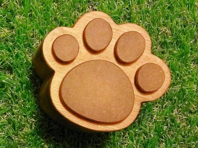 木製☆猫の肉球小箱☆チェリー