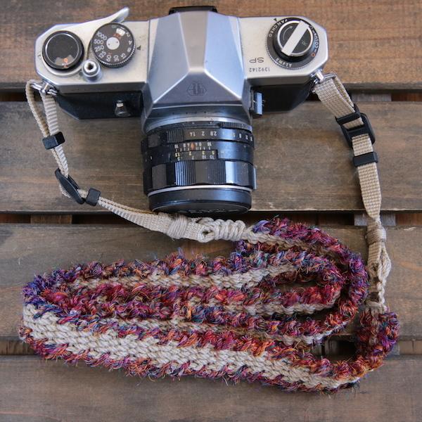 fuchidori麻紐ヘンプカメラストラップ(2重リング)