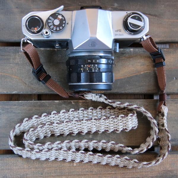 麻紐ヘンプカメラストラップBRW(2重リング)