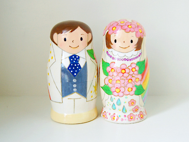 ウェディング マトリョーシカ*虹色の結婚式*