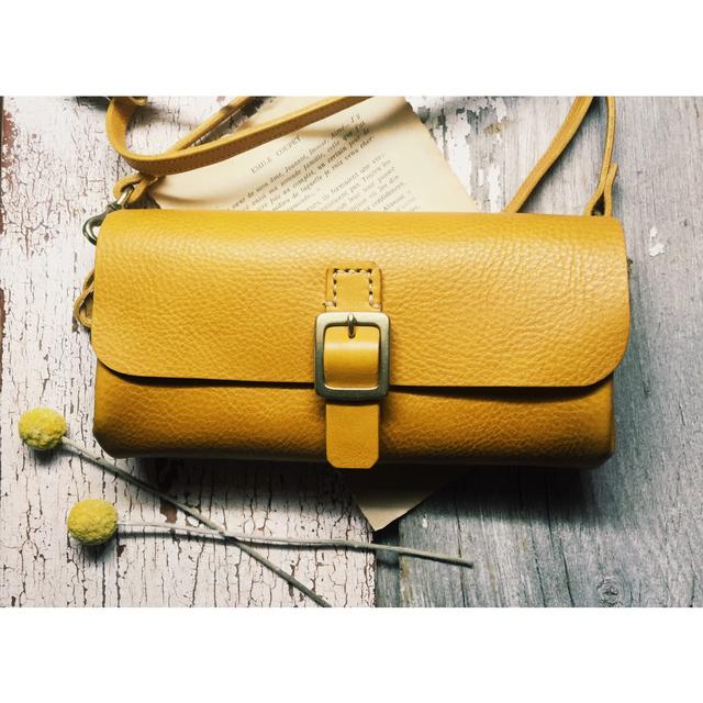 *受注製作*Walletbag (yellow) お財布...
