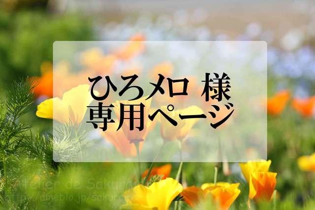 ひろメロ様 専用ページ