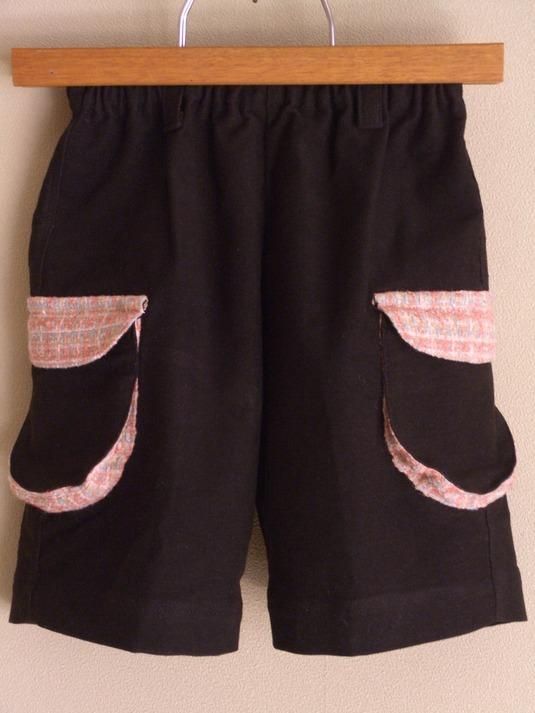 ふっくらポケットつき 女の子のハーフパンツ 100cm