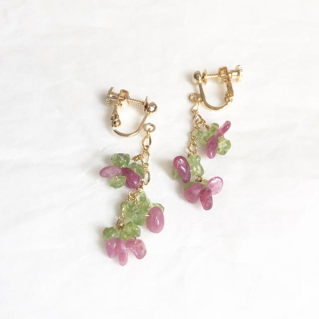 桜餅のイヤリング