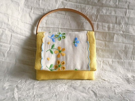 mini card pouch (yellow)