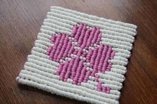 四つ葉のクローバー コースター(ピンク)