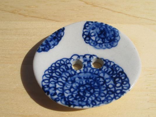 fleece ボタン(blue)  no,1