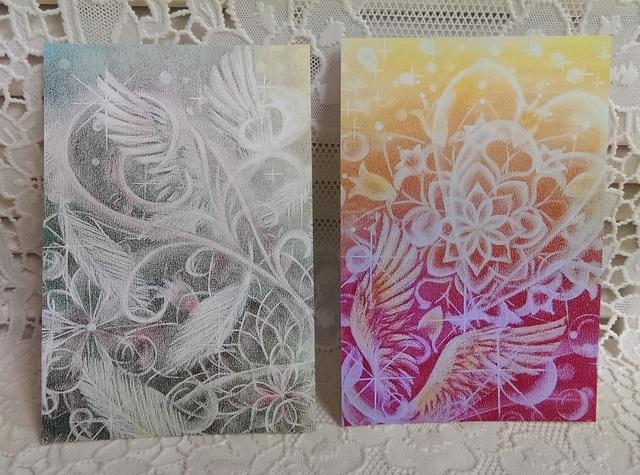 * postcard *天使の羽2枚組(sm5,sm6)