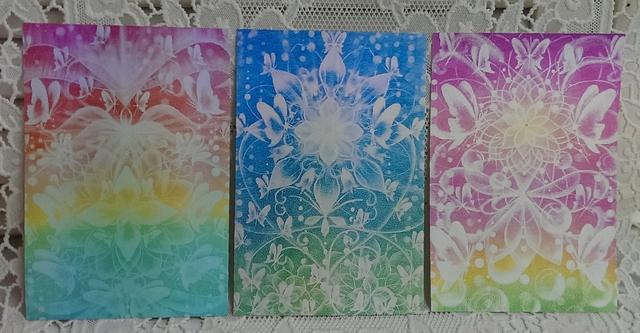 * postcard *蝶のモチーフ曼荼羅3枚組...