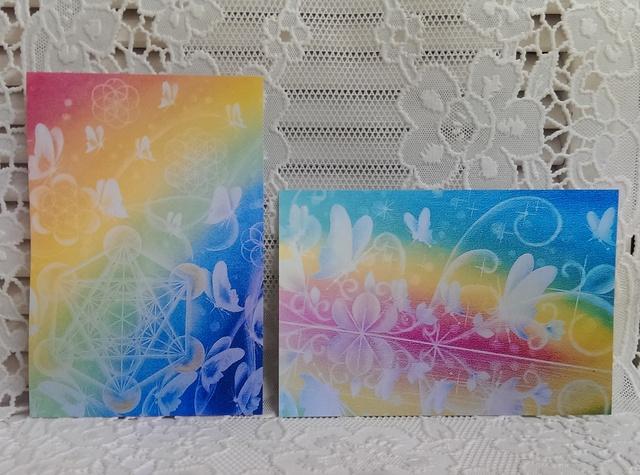 * postcard *蝶のモチーフ2枚組(m15,s...