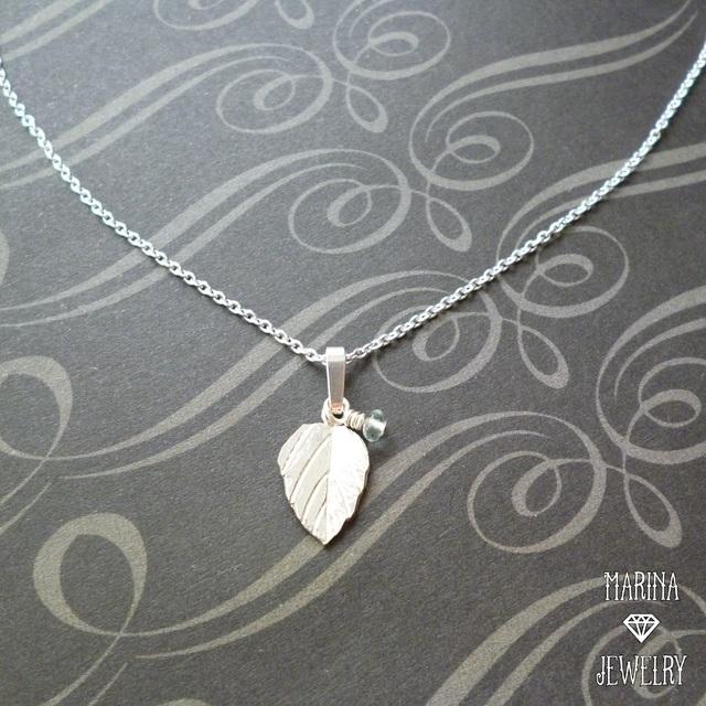 朝露 - silver leaf のネックレス -