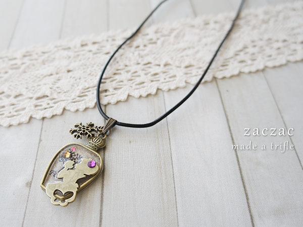 【販売終了】香水瓶と白雪姫*本革チョーカー