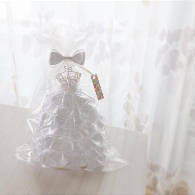 ふわふわ?ロングリボンドレス(白)