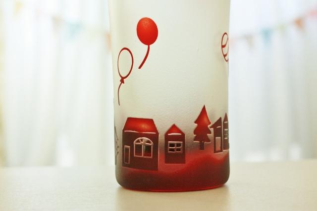 街と風船のミニビアグラス