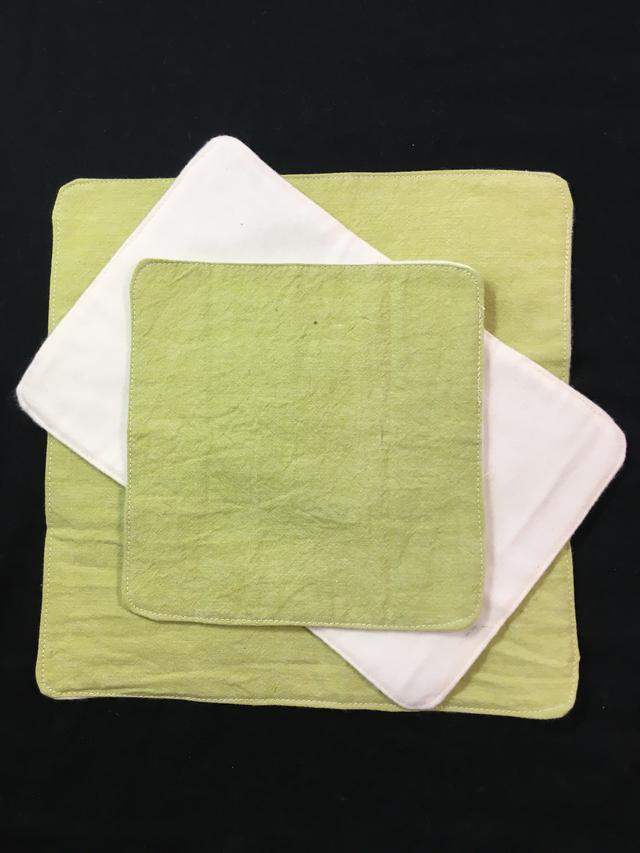 多用途ハンカチ布ナプキンSML3枚セット*草色
