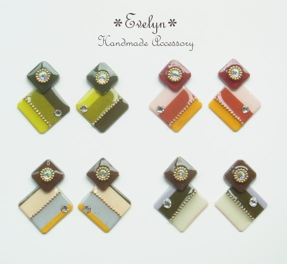 double square earring :1