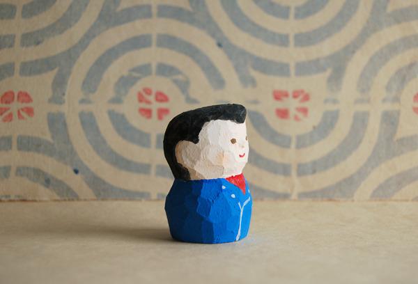 木彫り人形 リーゼント男子  [MWF-069]