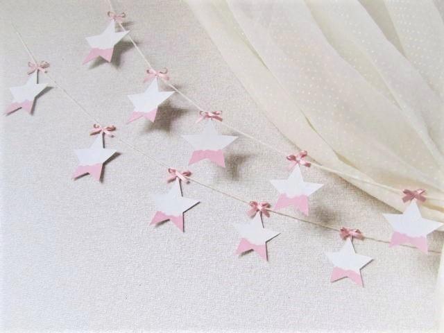 星のガーランド powder pink