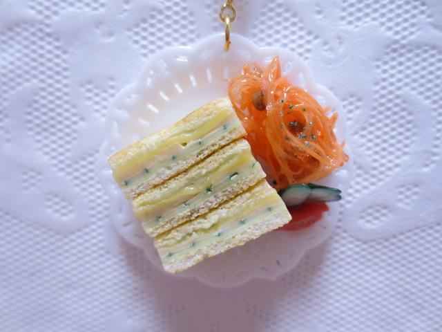☆ハム&チーズホットサンドキーホルダー☆