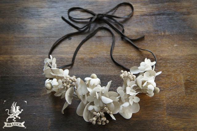 再販 necklace【 布花ネックレス * hyd...
