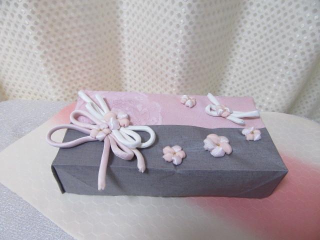 ◆桜ティッシュケース入れ◆シルク◆ちりめん細工◆花シリーズ