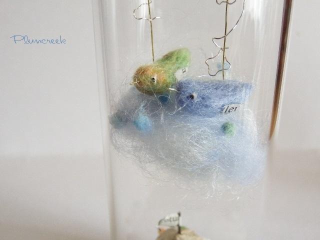 しあわせの青い鳥ボトル-L ・・・空色...