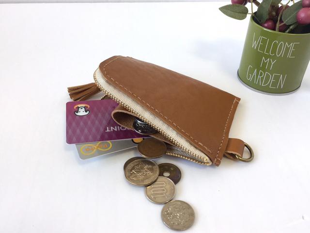 レザー L字ファスナー財布(キャメル)