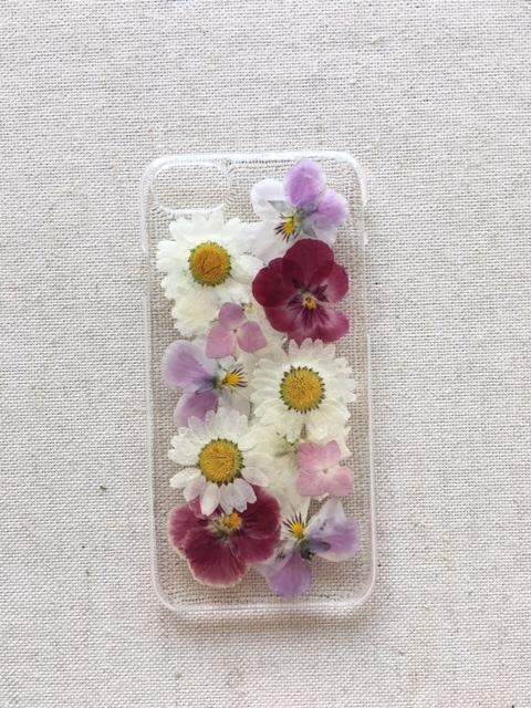 iphone7/6/6S  春色の押し花のケース