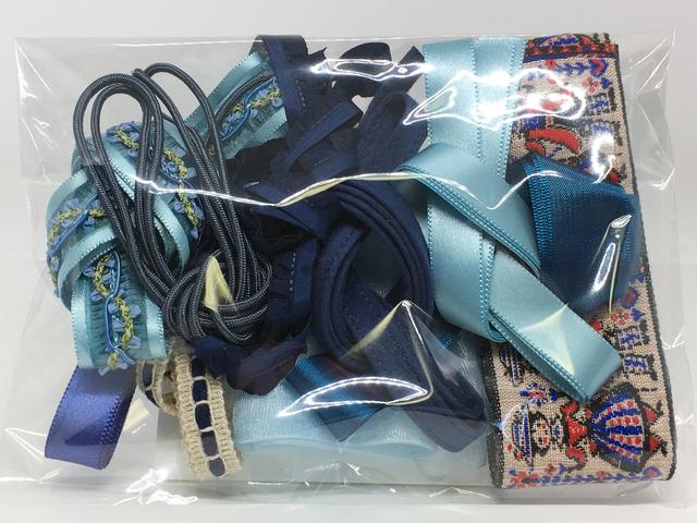 木馬リボンの福袋(各1m×10本入り)<青系2>