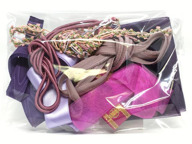 木馬リボンの福袋(各1m×10本入り)<紫系3>