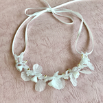 white petal  necklace