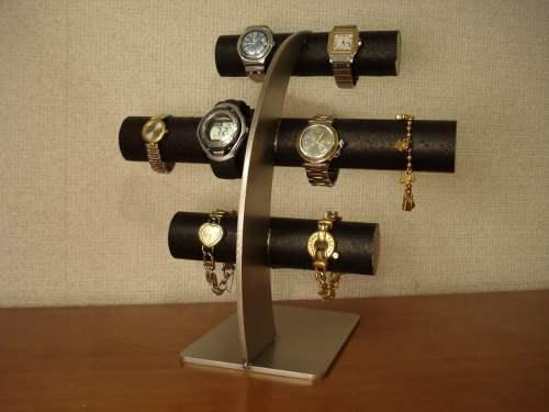 ブラック8本掛け腕時計スタンド ak-design