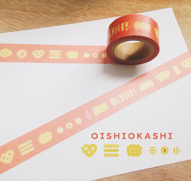 100個限定OISHIお菓子マスキングテープ...