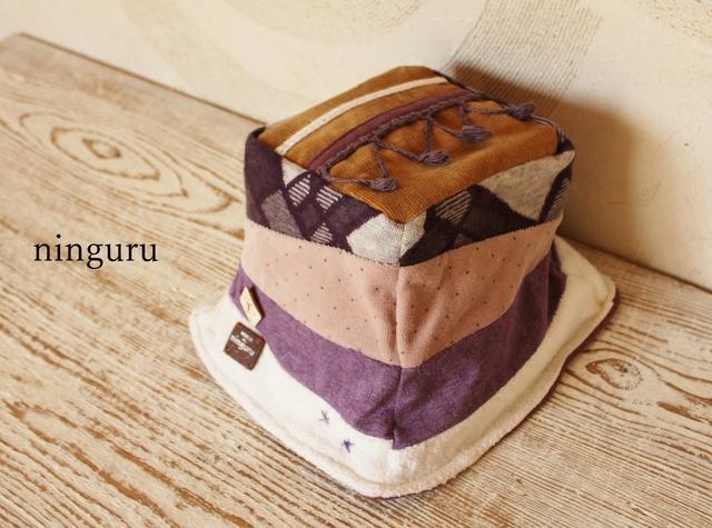 秋色 ふわふわ紫のババロアハット(再販)