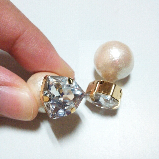 SWAROVSKI triangle��cotton pearl