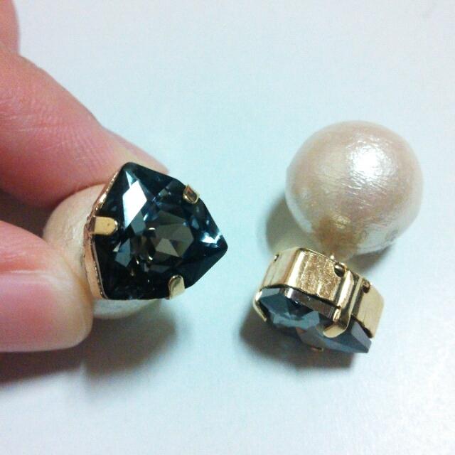 SWAROVSKI triangle×cotton pearl