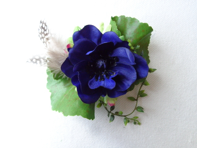 royal blue  anemone コサージュ