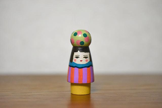 球体者(みどりピンク水玉)
