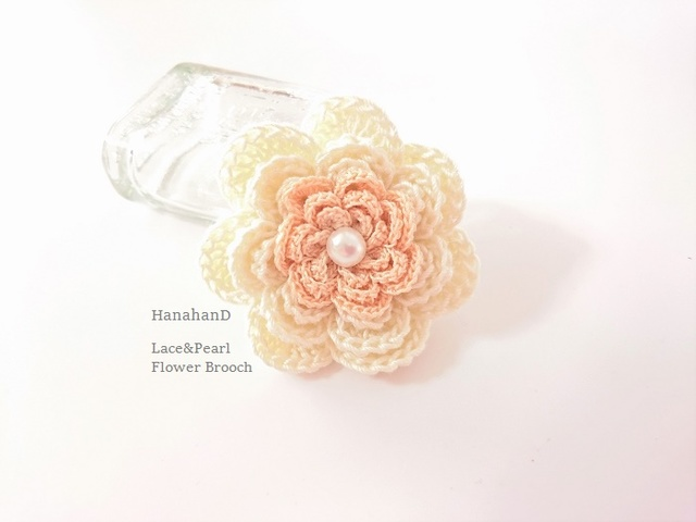 お花のブローチ*ラメレース