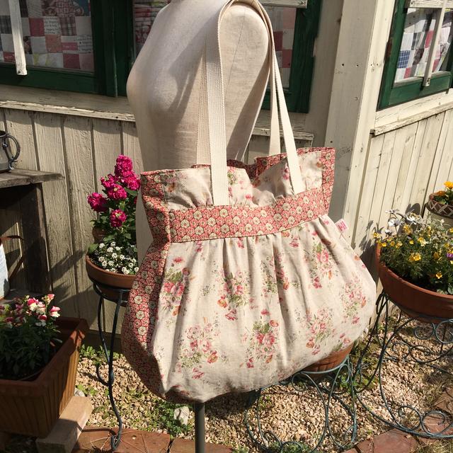 春るんるん たっぷり入るトートバッグ 花